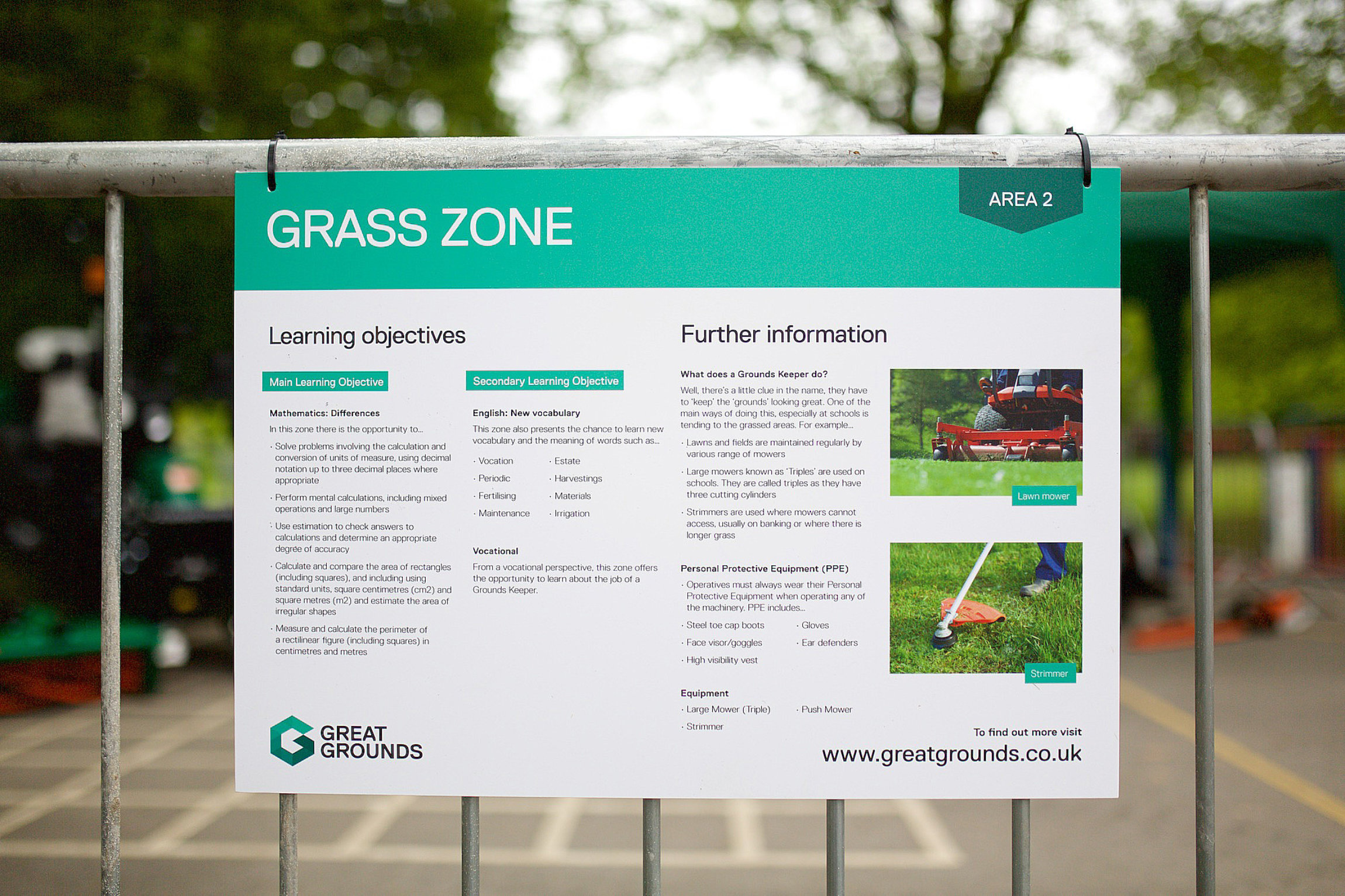 Grounds Maintenance  – An opportunity to Learn